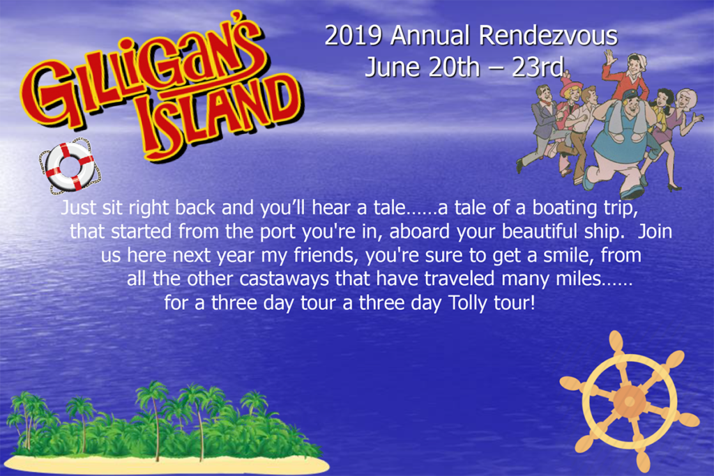 2019 Tollycraft Boating CLub Rendezvous postcard